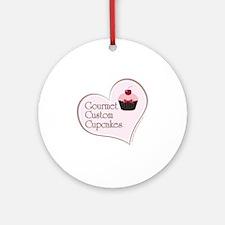 centered gourmet cupcakes logo copy Round Ornament