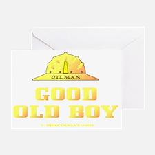 Good Old Boy A4 ZZCv using adj Testg Greeting Card