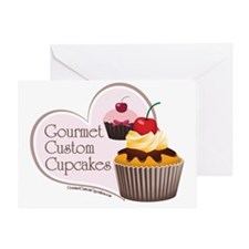 small poster gourmet custom cupcakes Greeting Card