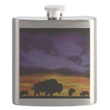 Bison mousepad Flask