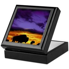 Bison mousepad Keepsake Box