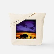 Bison mousepad Tote Bag