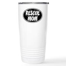Rescue mom-black Travel Coffee Mug