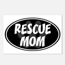 Rescue mom-black Postcards (Package of 8)