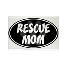 Rescue mom-black Rectangle Magnet