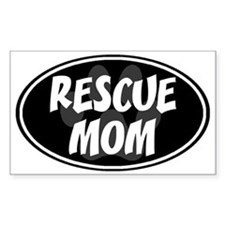 Rescue mom-black Decal