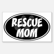 Rescue mom-black Decal