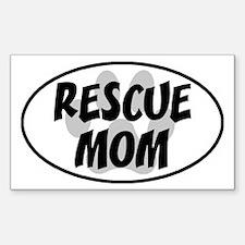 Rescue mom-white Decal