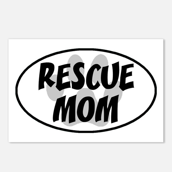 Rescue mom-white Postcards (Package of 8)