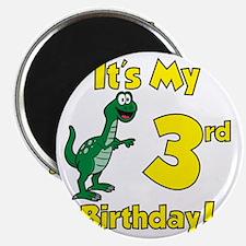 3rd Birthday Dinosaur Shirt Magnet