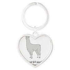 Llamas-D2-WaterBottle Heart Keychain