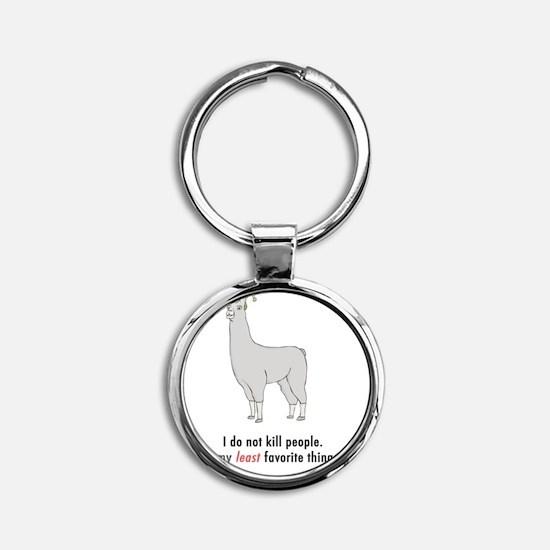 Llamas-D2-TravelMug Round Keychain