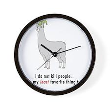 Llamas-D2-WhiteApparel Wall Clock