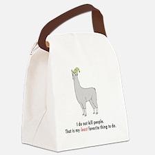 Llamas-D2-WhiteApparel Canvas Lunch Bag