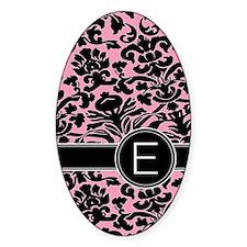 443_monogram_pink_E Decal