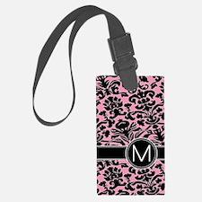 443_monogram_pink_M Luggage Tag