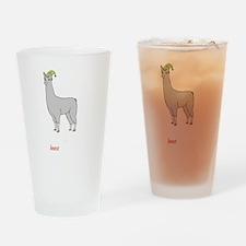 Llamas-D2-BlackApparel Drinking Glass