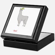 Llamas-D2-BlackApparel Keepsake Box
