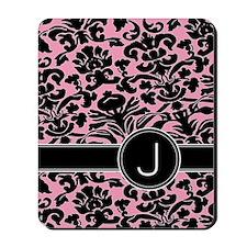 443_monogram_pink_J Mousepad