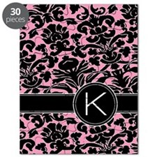 443_monogram_pink_K Puzzle