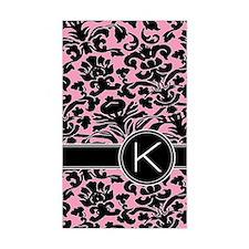 443_monogram_pink_K Decal