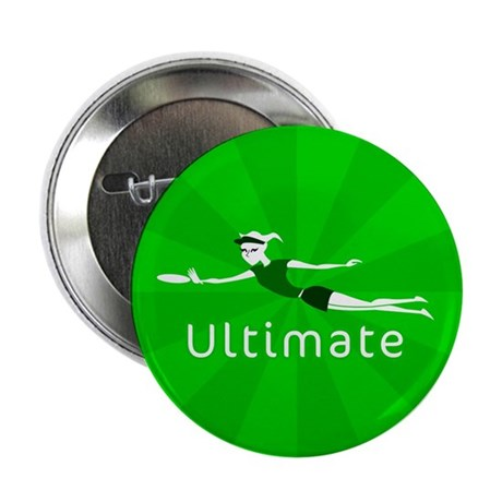 "Ultimate Frisbee 2.25"" Button (10 pack)"