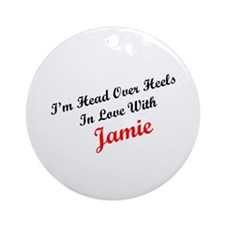 In Love with Jamie Ornament (Round)