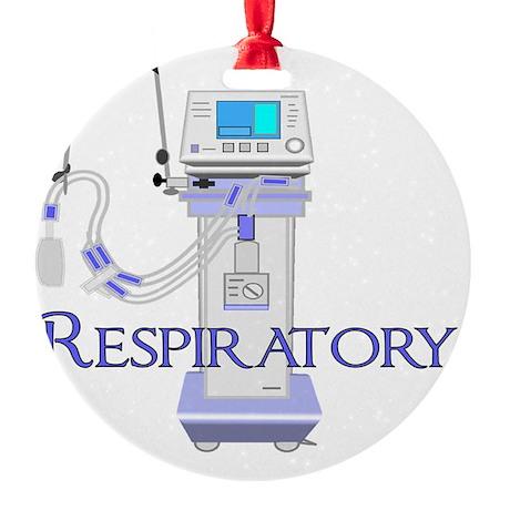 Respiratory Therapist 2011 BLUE Ven Round Ornament
