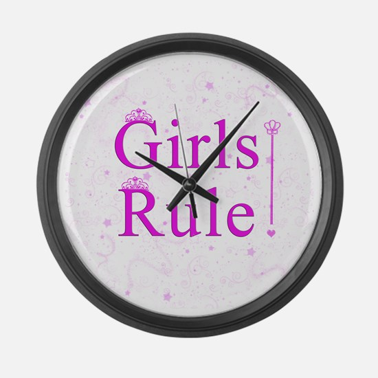 girlsrule Large Wall Clock