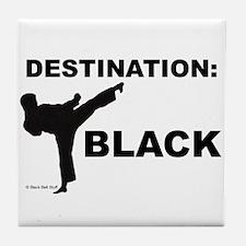 Funny Karate kids Tile Coaster