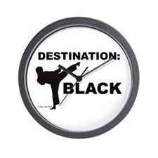 Cute Martial arts black belt Wall Clock