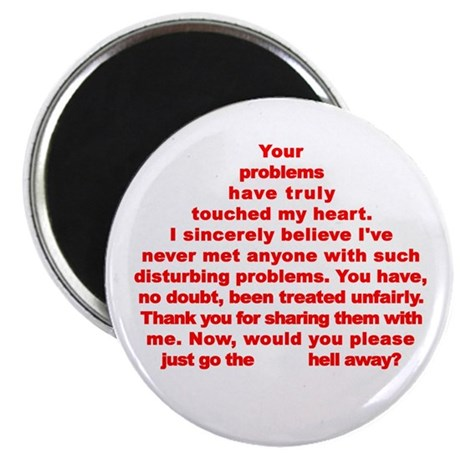 "Go the Hell Away! 2.25"" Magnet (100 pack)"