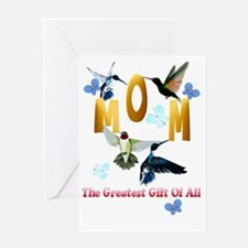 MOM The Greatest Gift Of All Trans Greeting Card