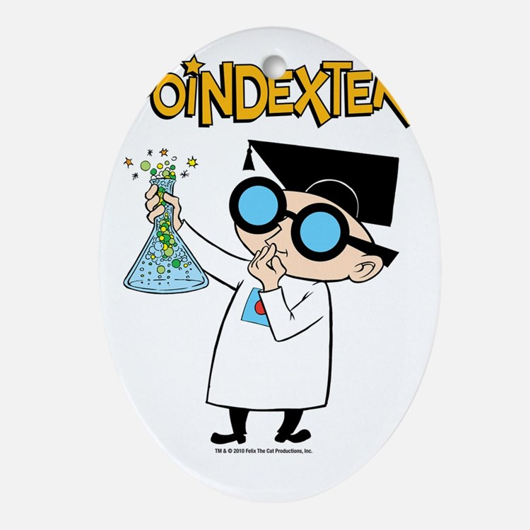 poindexter-test tube Oval Ornament