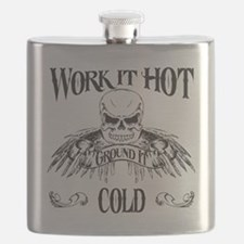 ground it hot_white shirt2 Flask