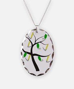 RT Tree 1 Necklace Oval Charm