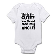 Think I'm Cute? Uncle - Black Onesie