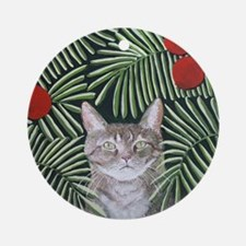 RousseauDreamCat8x10 Round Ornament