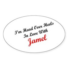 In Love with Jamel Oval Decal