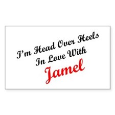 In Love with Jamel Rectangle Decal