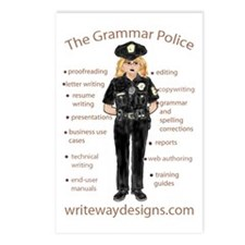 Grammar Police Postcards (Package of 8)