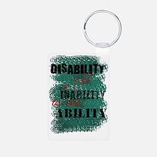 Awareness tee disability i Aluminum Photo Keychain