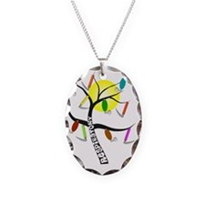 Gails RT Tree WHITE SHIRTS W S Necklace Oval Charm