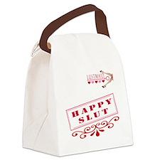 HAPPY--SLUT Canvas Lunch Bag