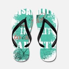 Awareness tee disability is pastel Flip Flops
