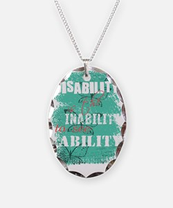 Awareness tee disability is pa Necklace