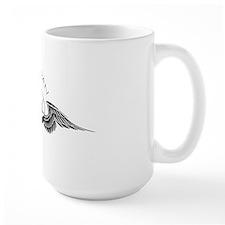 fly pan in black  white Ceramic Mugs