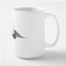 fly pan in black  white Mug