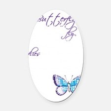 Awareness tee Butterfly Child copy Oval Car Magnet