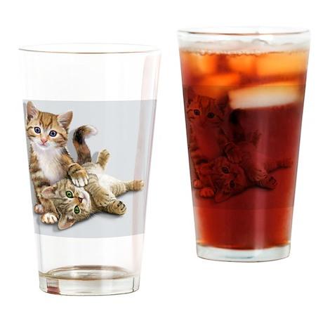 Kittens mousepad Drinking Glass